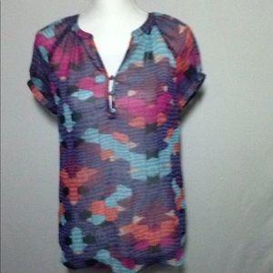 Liz Claiborne Tops - Liz Claiborne Sheer Tunic Size Small EUC